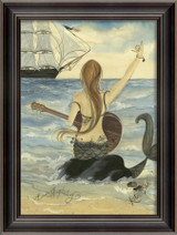 Let's Rock Mermaid Art - Black Frame
