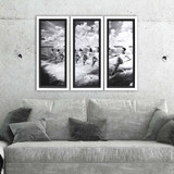 Vintage Water Ski Parade Prints - Set of Three room view