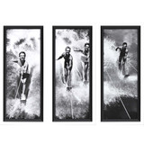 Vintage Water Ski Splash Framed Prints - Set of Three