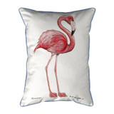 Bright Pink Flamingo Outdoor Pillow
