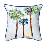 Three Palms Large Indoor-Outdoor Pillow