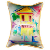 Key West Palm Yellow Hut Pillow