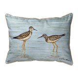 Yellow Legs Shore Bird Indoor-Outdoor Pillow