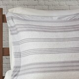 Colby Harbor Grey Stripe Queen Duvet Set shams
