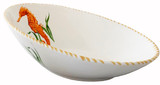 Seahorse Diagonal Deep Serving Bowl