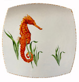 Seahorse Large Square Plates - Set of Two