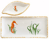 Seahorse Dip Bowl and Tray Set
