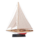 The Endeavor L60 Red and White Sailing Model