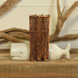 White Whale Cast Iron Bookends shelf view 1