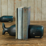 Whale Cast Iron Bookends shelf view 1