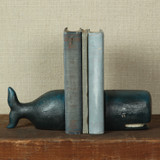 Whale Cast Iron Bookends shelf view 2