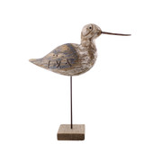 Navy and Driftwood Sandpiper Decor