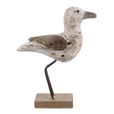 White Driftwood Seagull Decor