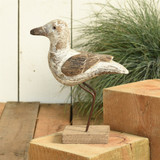 White Driftwood Seagull Decor room view