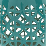Ridgeway Garden Stool - Turquoise close up
