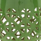 Ridgeway Garden Stool - Bright Green close up color