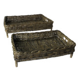 Rustique Grey Montauk Entertaining Trays - Set of 2