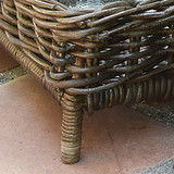Rustique Grey Montauk Entertaining Trays - Set of 2 close up legs