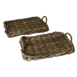 Sonoma Rattan Serving Trays - Set of 2