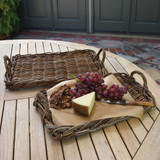 Sonoma Rattan Serving Trays - Set of 2 room view