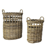 Newhaven Rattan Woven Baskets - Set of 2