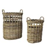 Newhaven Rattan Woven Baskets - Set of 2