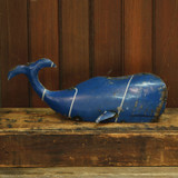 Reclaimed Blue Metal Whale - Small room view