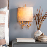 Emerlyn Beaded Wall Sconce bedside view