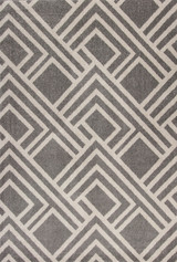 Grey Moderne Lucia Indoor-Outdoor Rug