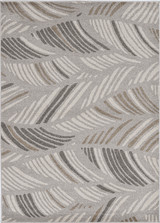 Grey Palm Folia Lucia Indoor-Outdoor Rug
