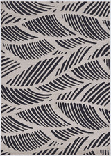 Black Palm Folia Lucia Indoor-Outdoor Rug