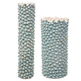 Fijian Reef Aqua Vases - Set of Two