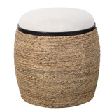Island Seagrass Wrapped Accent Stool