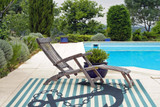 Navy and Light Blue Striped Anchors Aweigh Rug outdoor room view