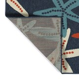 Red White and Blue Sea Stars Rug backing