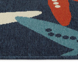 Red White and Blue Sea Stars Rug edge and pile