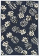 Navy Blue Pineapple Party Rug