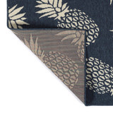 Navy Blue Pineapple Party Rug backing