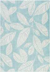 Aqua Leaves Bodrum Area Rug