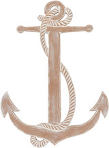 Point Loma Distressed White Anchor Wall Decor