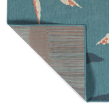 Light Blue Twin Flamingos Rug back and corner