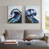 Liquid Waves Art 2-Piece Set