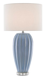 Blue Star Porcelain Table Lamp