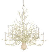 Large Seaward White Coral Branch Chandelier