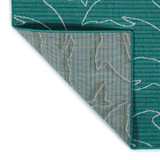 Teal Diving Dolphins Indoor-Outdoor Rug  backing