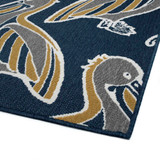 Navy Blue Pelican Flock Indoor-Outdoor Rug corner