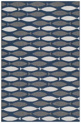 Barracuda II School of Fish Area Rug