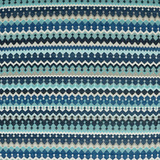 Indigo Stripes Luxury Coastal Pillow fabric close up