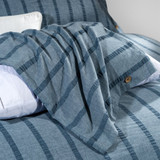 Harper Stripe 3-Piece Queen Duvet Set close up