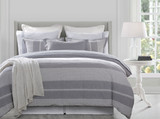 Waterfront Lane 3-Piece Stripe Super Queen Duvet Set